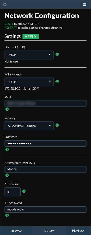 Networkconfigurationpanel